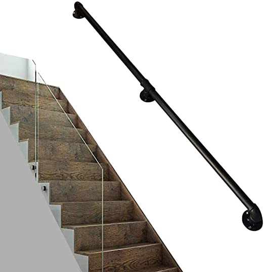 Barandillas Escalera de barandilla pasamanos de escalera Barandilla Con Kit completo, Patio de madera Barandas for interior al aire libre, kit de barandilla de la escalera barandilla carril |Canal de: Amazon.es: Hogar