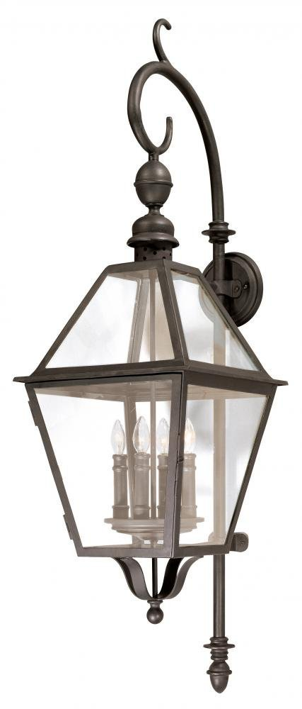 Troy Lighting Townsend 47''H 4-Light Outdoor Wall Lantern - Natural Bronze Finish with Clear Glass by Troy