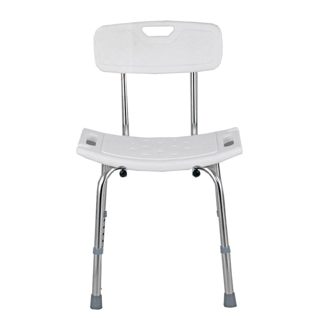 厚いステンレス鋼の固定シャワーの浴槽の椅子高齢者の浴室の椅子背中のバスルームと妊娠中の女性の調整 (サイズ さいず : A) B07DFG29ZG A  A