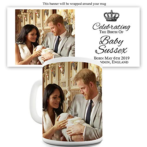 TWISTED ENVY Prince Harry and Meghan Markle Royal Baby 11 OZ Funny Mugs for Coworkers Celebrating Baby Sussex