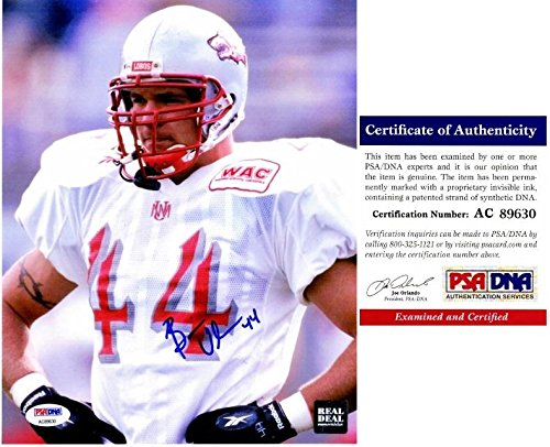 New Mexico Lobos Photograph (Brian Urlacher Signed Picture - New Mexico Lobos 8x10 Certificate of Authenticity COA) - PSA/DNA Certified)