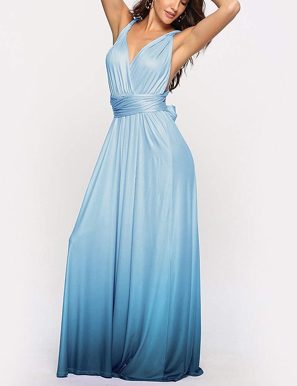 FeelinGirl Dress Gonna Donna con Cinturini Cinturino variet/à Indietro Spalla Nuda Sera Elegante S-XL