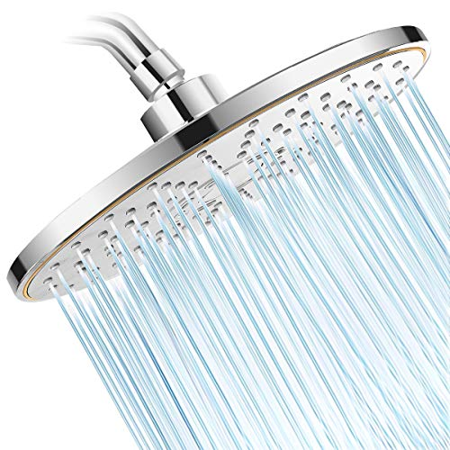 Baban Rainfall Shower Head,3-Settings 9 inch Large High Pressure Rain Shower Head ABS Polish Chrome Finish with Filter to Anti-clog Anti-leak, Awesome Shower Experience for Bathroom Home Hotel