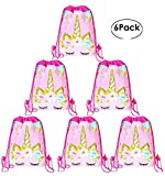 Drawstring Bags Party Favors for Kids Unicorn Design Backpack Rucksack Shoulder Bags Gym Bag, Arts & Crafts Activity 10 Pack (Cartoon, Animals 13.8'x10.7 Birthday Party Packs