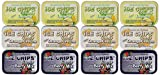 ICE Chips Fruity Variety Pack Xylitol Candies- Six Full-size Tins (Pack of 2)