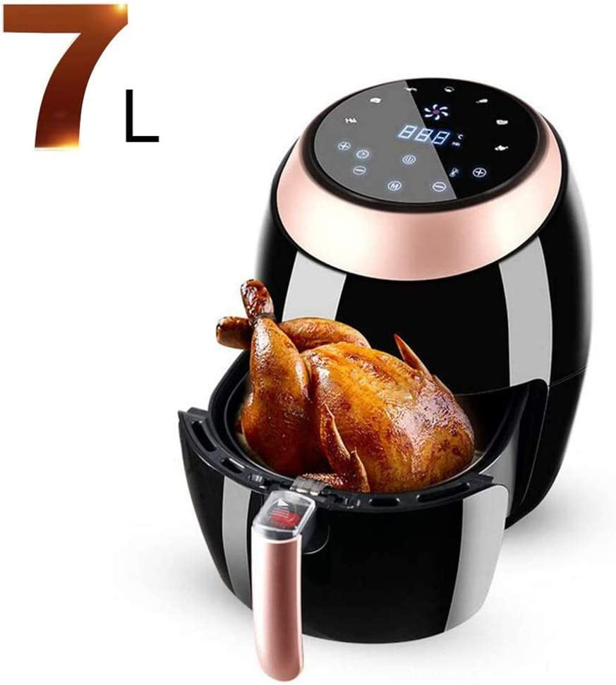 BTSSA Air Fryer, 1500W High Capacity Electric Hot Air Fryers Oven Oilless Cooker,Digital Touch Screen with Cooking Presets,7 Liters