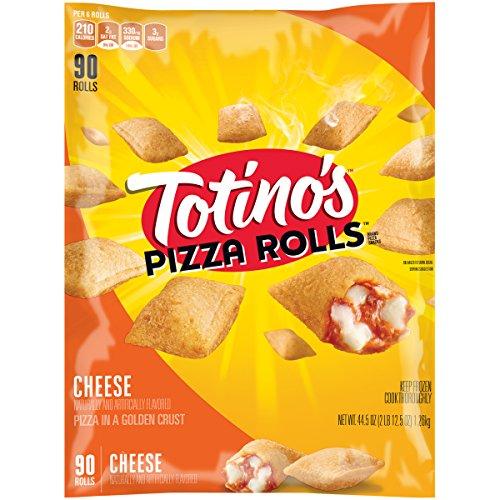 - Totino's Pizza Rolls, Cheese, 90 Rolls, 44.5 oz Bag (frozen)