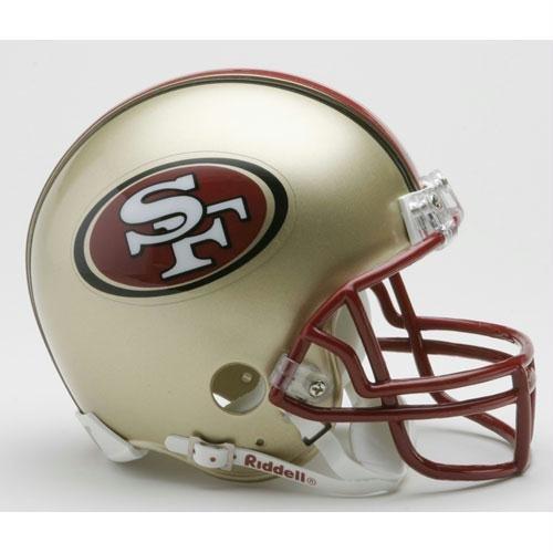 UPC 707003853205, San Francisco 49ers Miniature Replica NFL Helmet w/Z2B Mask by Riddell