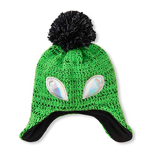 The Children's Place Big Boys' Beanie Hat, Jasmine Green, S/M(4-7YR) ()