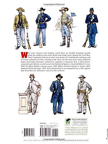 Civil War Uniforms Coloring Book (Dover Fashion Coloring Book ...