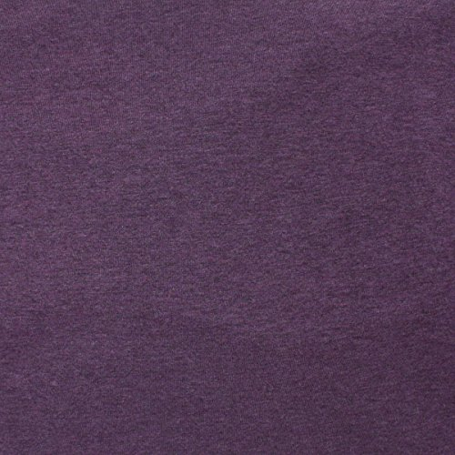 TELIO 0590107 Organic Melange Cotton Jersey Knit Purple Fabric by The Yard,