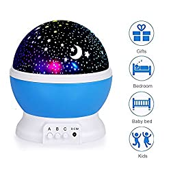 Foreverrise Baby Night Light Lamp, Star Projector Rotating Star Light, Night Lights Projector For Bedroom, Festival Gifts For Women Kids, Star Light Rotating Projector, Women Kids For Christmas Gifts