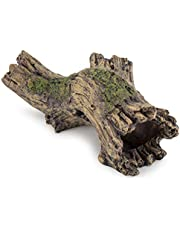 Hygger Small Aquarium Ornament Poly Resin Wood Trunk Log Fish Tank Decoration for up to 20 Gallon Tank Betta Fish Accessories Hideout Cave(Tree Log)