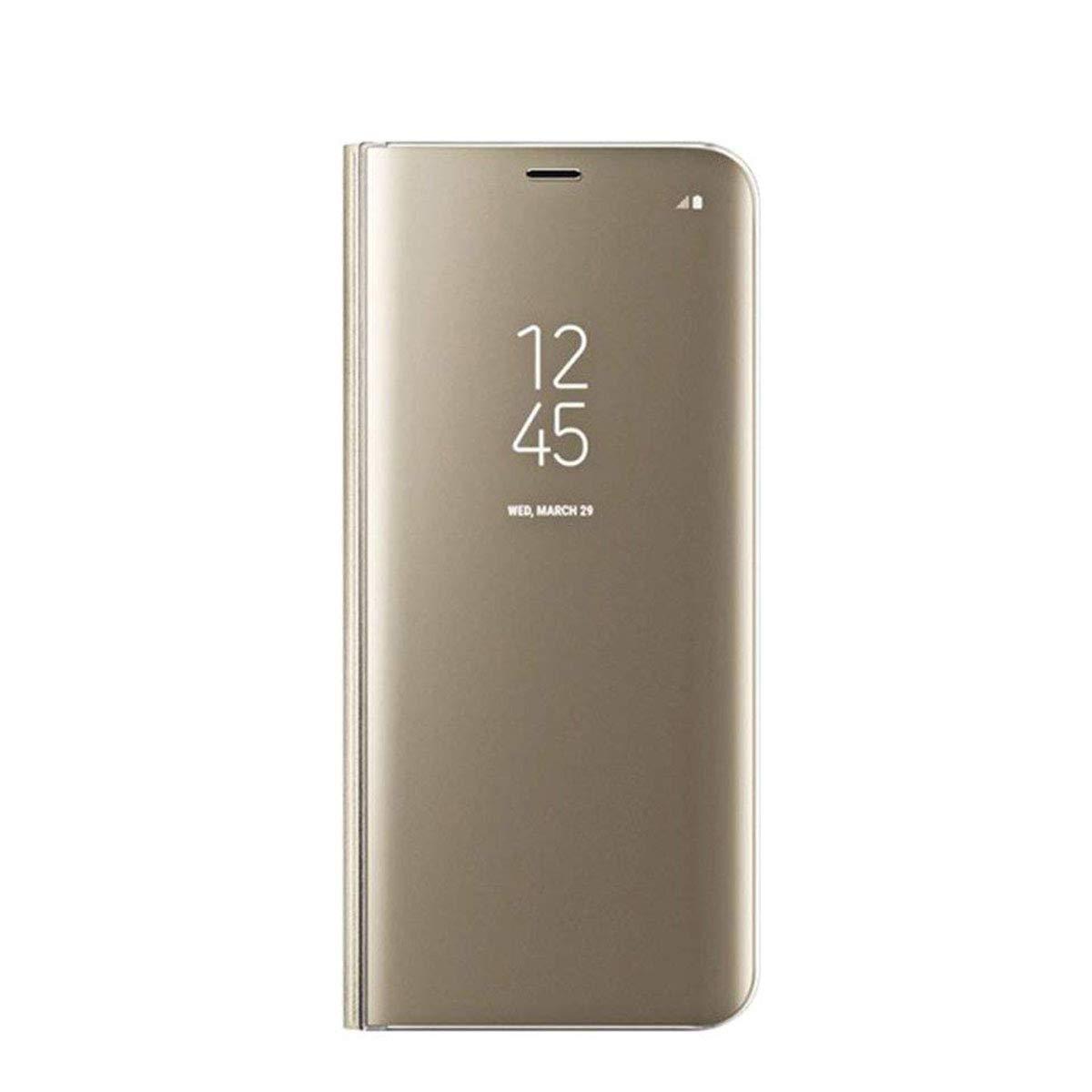 Ukayfe Galaxy Note 9 Custodia,Specchio Custodia Portafoglio Flip in Pelle PU e Duro PC Ultra Slim con Stand Funzione dei 360 Gradi Protezione Mirror Cover per Samsung Galaxy Note 9-Nero