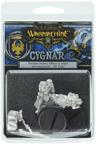 (Privateer Press Warmachine: Cygnar Trencher Unit Attachment Model Kit)