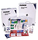 Radnor 64058046 White and Black Steel Portable Or Wall Mounted 150 Person 3 Shelf Industrial First Aid Kit, English, 15.34 fl. oz, Plastic, 1 x 1 x 1