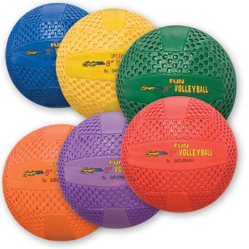 Fun Gripper 8.5'' Volleyballs - Set of 6