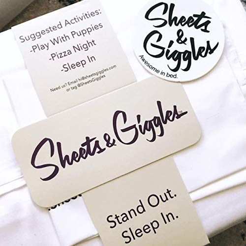Sheets & Giggles Eucalyptus Lyocell Sheet Set. Compared with Cotton, Our Sheets are Softer, More Breathable, More Cooling, and Sustainable Too- No Sheet. Hypoallergenic, Deep Pockets. Queen Grey