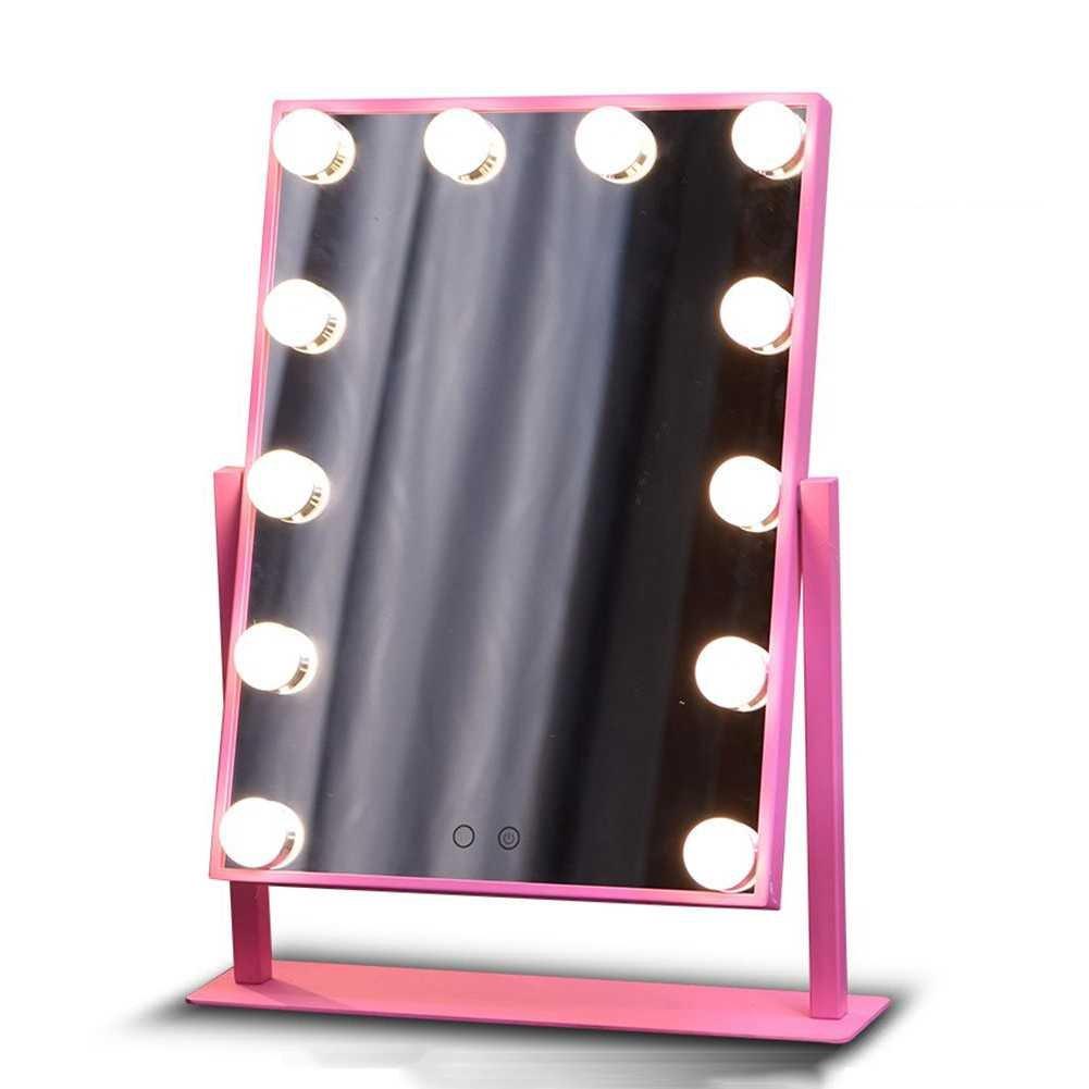 uphan u3 19.6インチLarge Hollywoodメイクアップミラー、400 × 300 mmデュアルカラーLED Bigバルブ調整可能減光ライト化粧台ミラーwithライト B06X9CZTM4