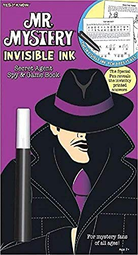 Lee Publications YES & Know Mr. Mystery Secret Agent Spy Invisible Ink Game Book ()