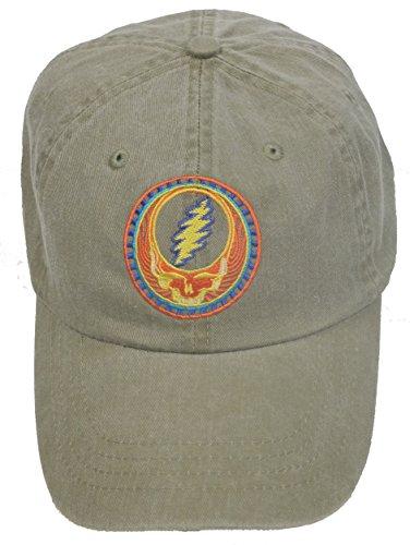 Licensed Grateful Dead Orange Sunshine Embroidered Tan Cap by Dye The Sky -