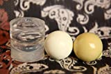 Clear silicone sphere mold for resin ball for jewellery DIY. HQ transparent vacumed silicone. (16 mm)