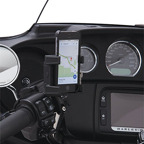 Ciro Smart Phone/GPS Perch Mount Holder without Charger, Black Finish 50311 (Street Bike Phone Holder)