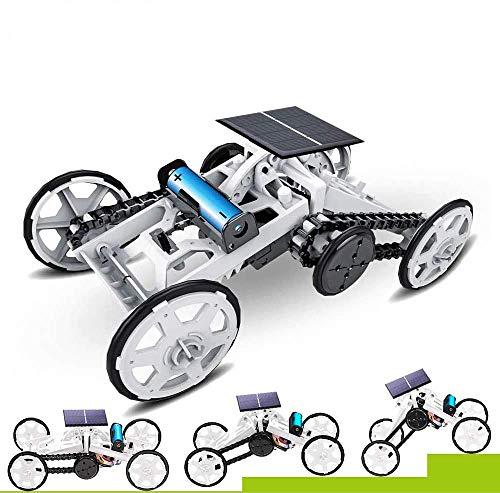 WOMTOY4 륜구동차량 장난감 어셈블리 키트 FOUR-WHEEL DRIVE DIY 등반 차량의 전기 기계적인 태양광 발전 과학을 건물의 장난감 회로 건설 프로젝트를 위해 어린이와 청소년 \u2026
