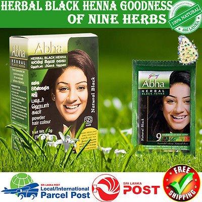 e740c2c848f0c Amazon.com : Godrej Abha Herbal Black Henna younger look for all unisex(10g  X 5) : Beauty