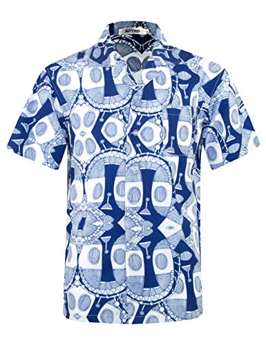 (APTRO Men's Hawaiian Shirt 4 Way Stretch Summer Holiday Short Sleeve Shirts (S, Hawaii-030))