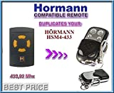 HÖRMANN HSM4-433 Compatible remote control, CLONE transmitter for garage gate automation, Top Quality keyfob, 433,92MHz fixed code CLONE!!!