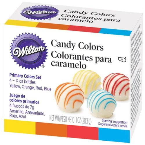 Wilton Candy Colors .25oz 4/Pkg-Yellow, Orange, Red & ()