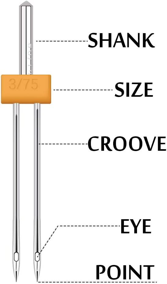 2,0//90 3,0//75 3,0//80 Wamkon 40 aghi gemellari 2,5//90 4,0//90 2,0//80 4,0//80 4,0//75 aghi bidirezionali 3,0//90 per macchina da cucire Kit per macchina da cucire domestica. 2,0//75