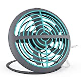 Cellet Small USB Desk Fan 6 Inch UFO Shape, Mini Personal Portable Powered Ultra Slim and Compact USB Powered Foldable Desktop Fan, Cooling Fan for Home Office, Dorm, Outdoor Travel, and More (Blue)