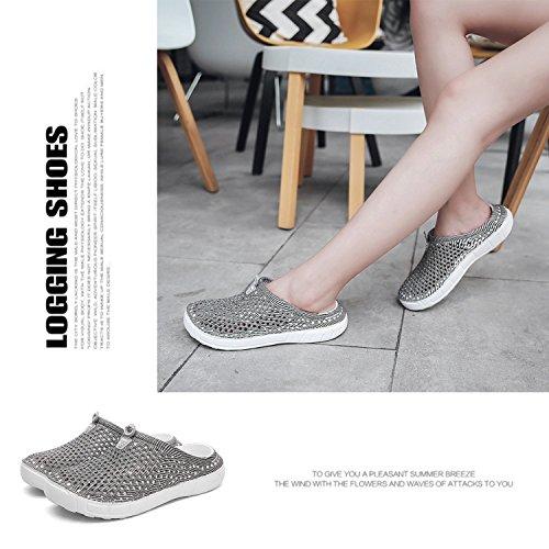 BARKOR Beach Gray4 Mesh Sandals Summer Shoes Clog Mens Drying Walking Shoes Quick Women's Garden PPqUwHr