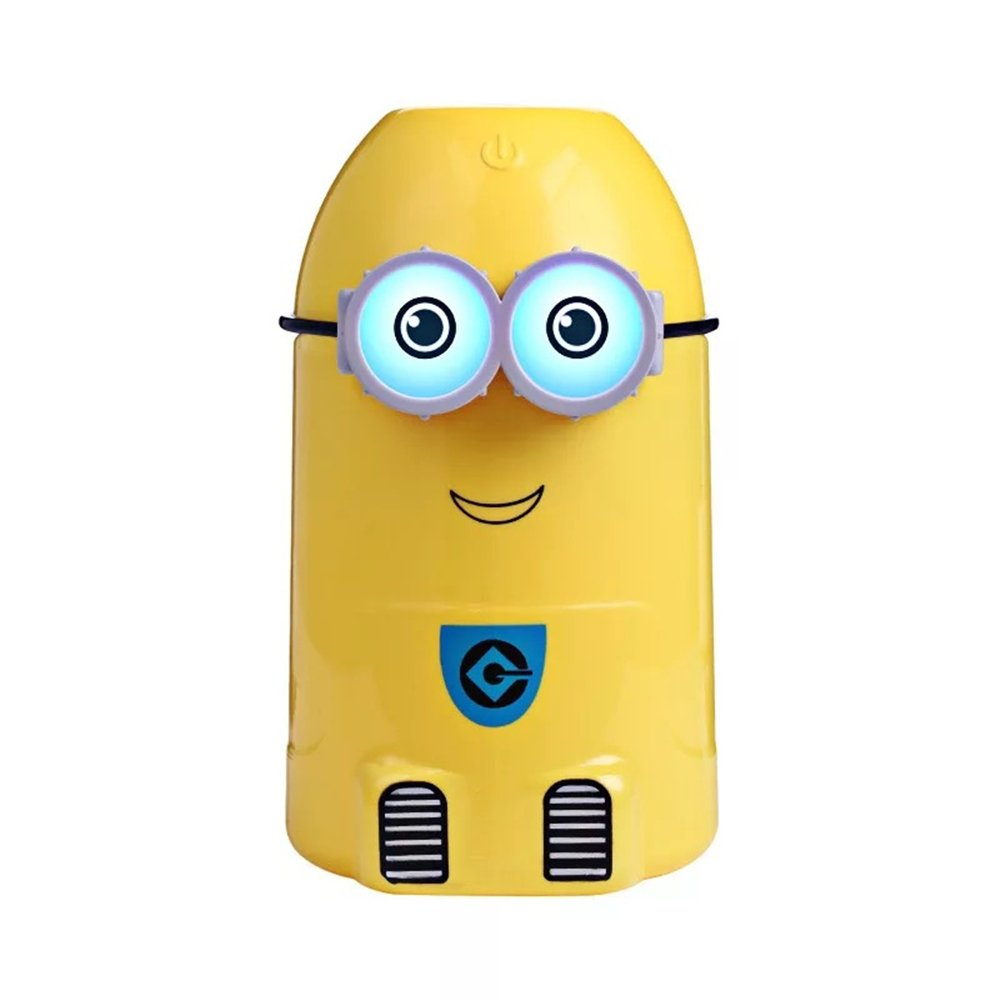 ATS Minions Humidifier LED Light Cool Mist Humidifier 250mL USB Kids for Office Home Children bedroom