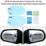 CellFAther® Car Rearview Mirror Film Car Side Mirror Protect Film HD Anti-Water/Anti-Mist/Anti-Fog Film, Waterproof Rearview Mirror,Car Rearview Mirror Protective Film (Pack of 2)