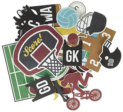 Kaisercraft CT791 Game on Die Cuts Equipment Collectables Cardstock
