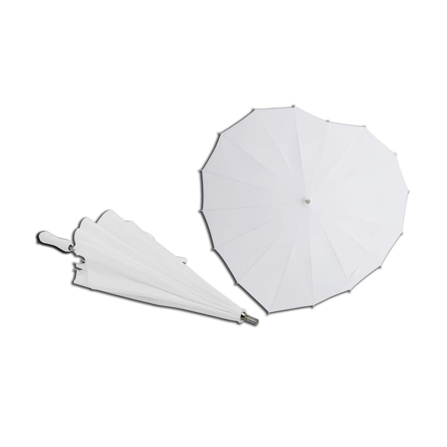 AoGV White Heart Shaped Wedding Parasol Umbrella Bride, Engagement Photography Photo Props