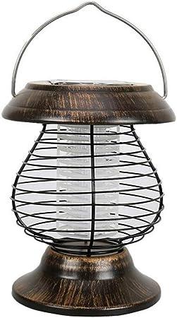 Ouqian Asesino del Mosquito de la Lámpara Hogar al Aire Libre Luz Solar de Mosquitos Jardín al Aire Libre Mosquitos Jardín Repelente de Mosquitos Anti-Mosquitos para Acampar al Aire Libre de Interior: