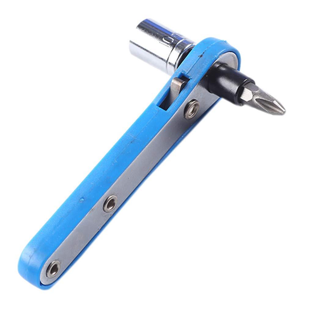 Oldeagle Wrench Screwdriver, Mini Rapid Ratchet Wrench 1/4 Screwdriver Bit Rod Socket Spanner for Connecting 6.35mm Sockets or Screwdriver Bit