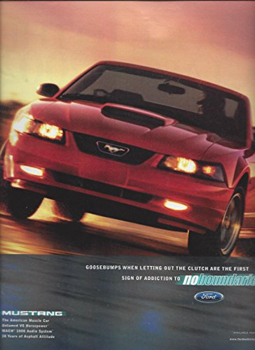 MAGAZINE AD For 2002 Ford Convertible Mustang First Sign of Addiction