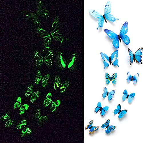 eoorau 24PCS Luminous Butterfly Decals product image
