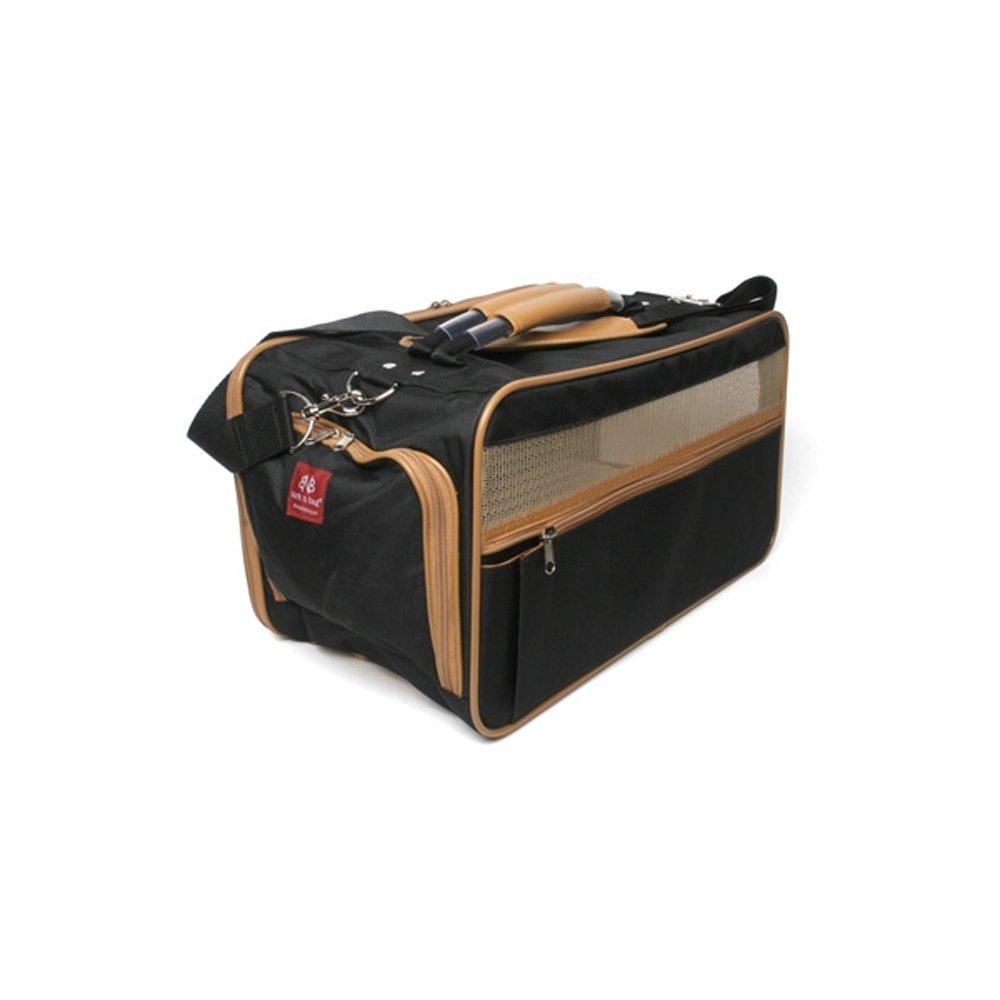 Bark-n-Bag Nylon Classic Carrier Collection Pet Carrier, Medium, Black/Tan