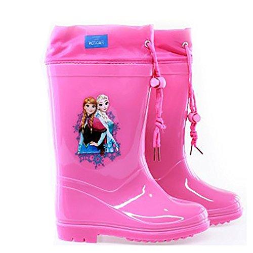 Disney Eiskönigin Regenstiefel, für Mädchen, Größen 22 -24–�?6–�?8–�?0–�?2,Elsa und Anna Rosa