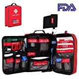 First Aid Kit Labeled Essentials Kits Waterproof Molle Bag...