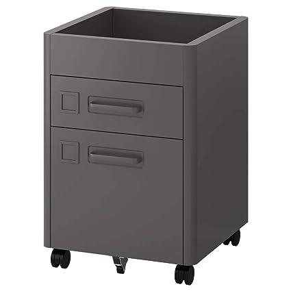IKEA ASIA IDASEN - Cajonera con Ruedas, Color Gris Oscuro ...