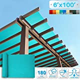 Patio Paradise 6' x 100' Sunblock Shade Cloth Roll,Turquoise Green Sun Shade Fabric 95% UV Resistant Mesh Netting Cover for Outdoor,Backyard,Plant,Greenhouse,Barn