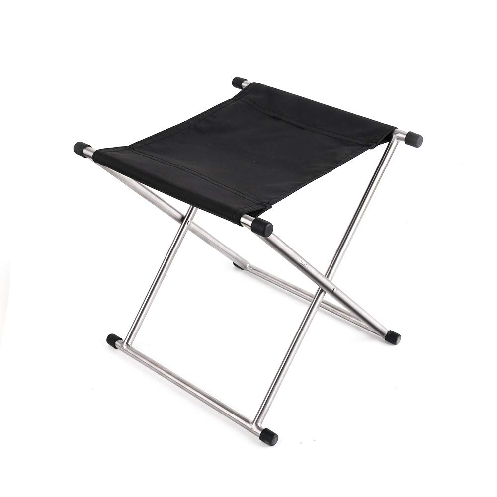 JEEF Titanium Alloy Folding Stool for Travel, Camping, Hiking (Right Angle- L) by JEEF
