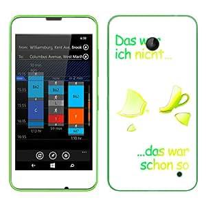"Motivos Disagu Design Skin para Nokia Lumia 630 Dual Sim: ""Das war...-gelb """